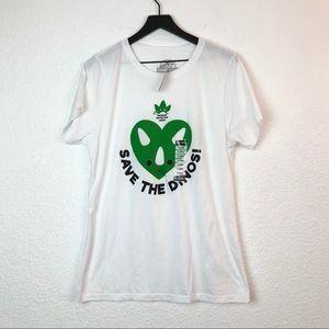 Jurassic World Save The Dinos T Shirt XL White